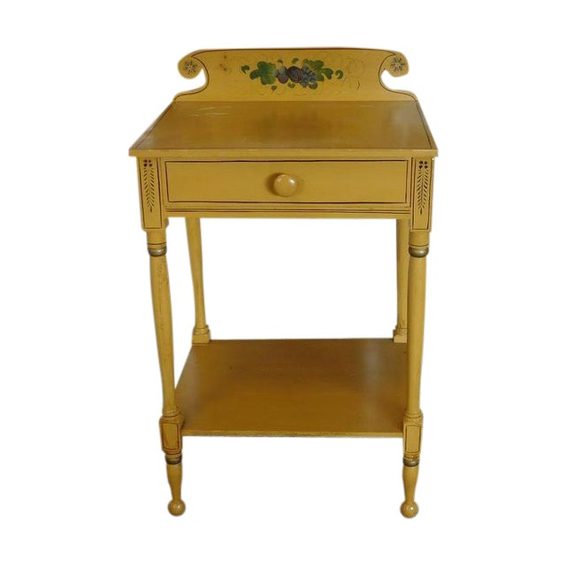 Sheraton 19 C. Painted Country Washstand Table For Sale