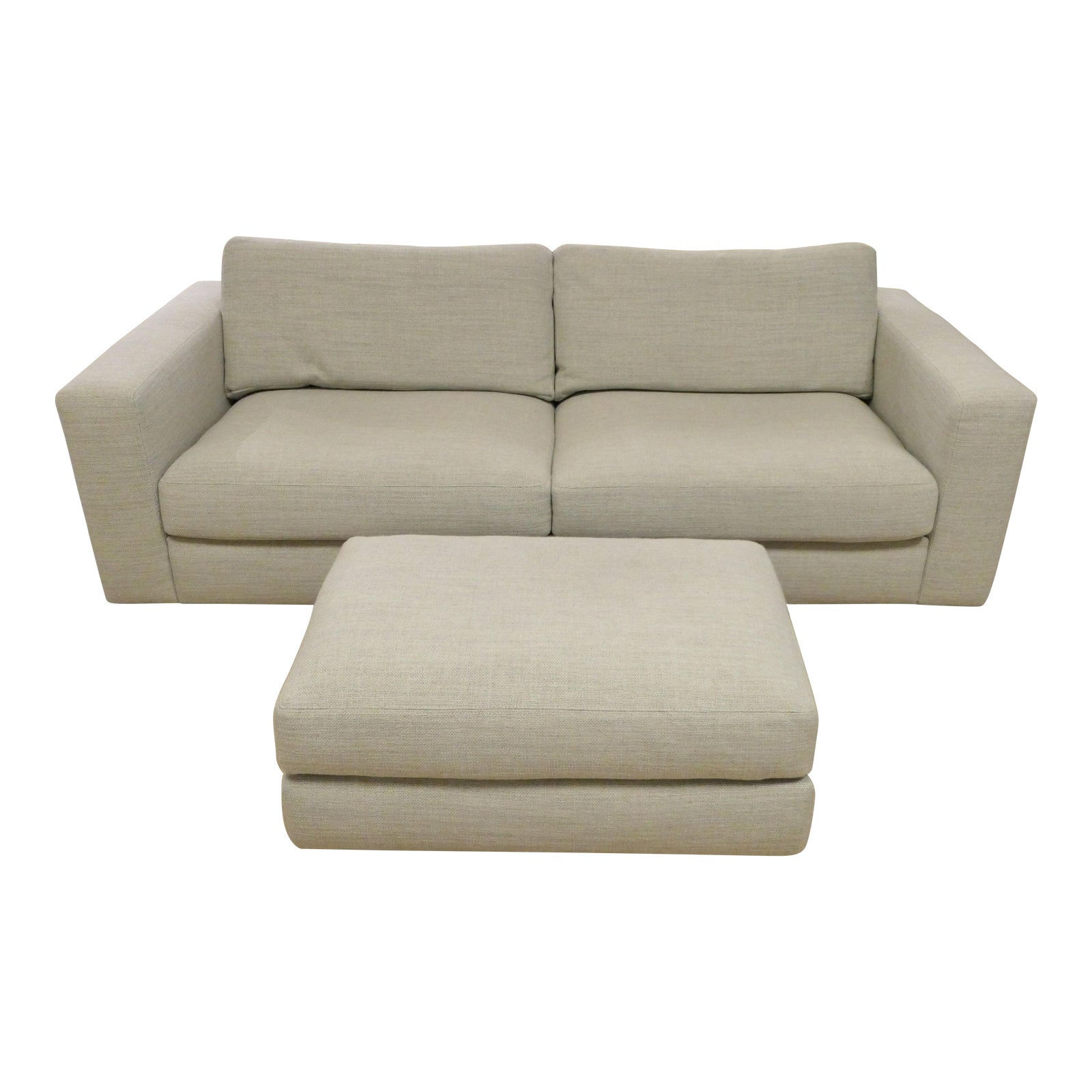 "Modern Design Within Reach ""Reid"" Sofa and Ottoman"