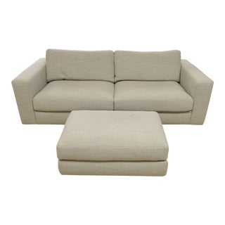 "Modern Design Within Reach ""Reid"" Sofa and Ottoman For Sale"