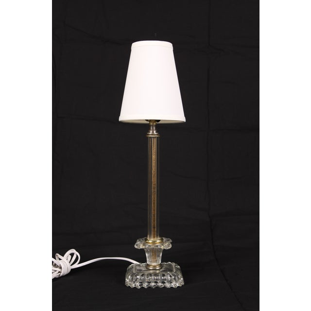 Hollywood Regency Glass Lamps - A Pair - Image 2 of 5