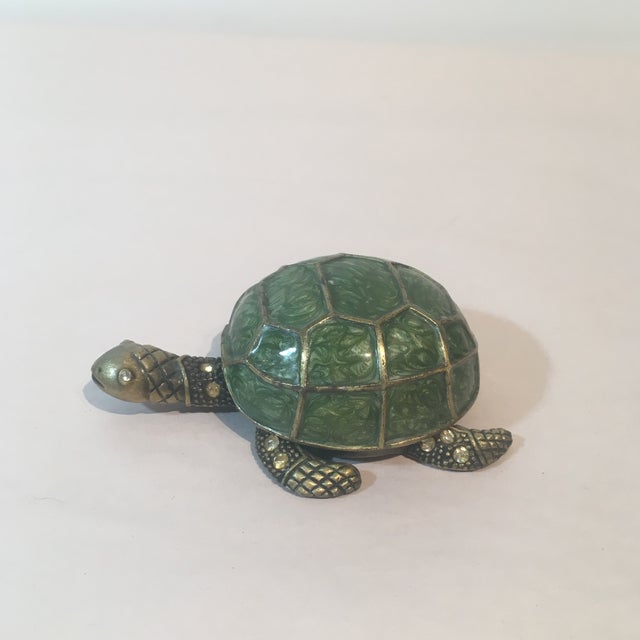Brass & Green Turtle Votive Candle Holder - Image 7 of 9