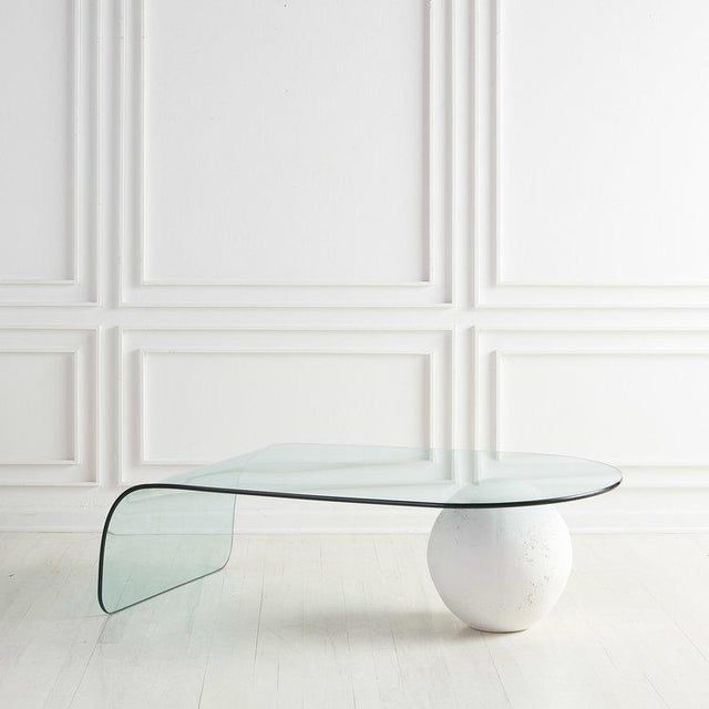 Glass and Plaster Ball Coffee Table For Sale - Image 9 of 9