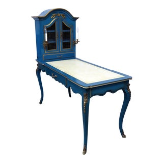 20th Century Louis XV Style Leather Top Cartonnier Desk For Sale