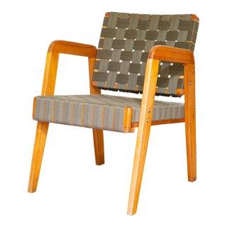 Klaus Grabe 1940s Bauhaus Mid-Century Modern Webbed Armchair For Sale
