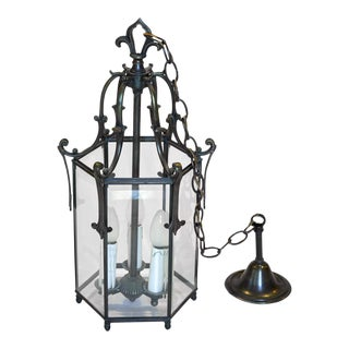 1920s Antique French Hall Lantern For Sale