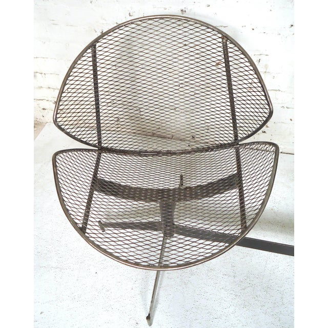 Vintage Industrial Two-Seat Bench For Sale In New York - Image 6 of 9
