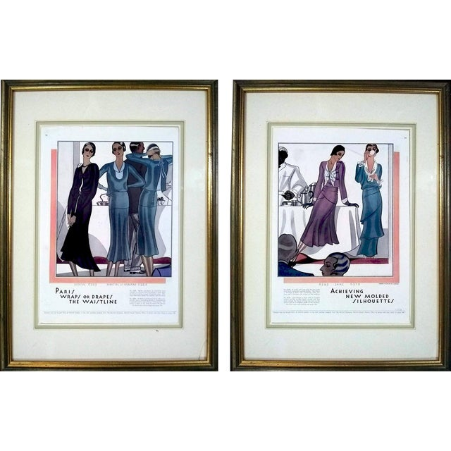 1930 McCalls Dressmaking Pattern Advertisements- Pair For Sale