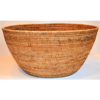 Large Wicker Rattan Woven Oval Basket Preview
