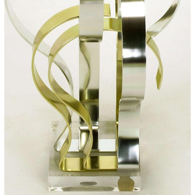 Gold Dan Murphy (American 20th C) Gold & Clear Anodized Aluminum Sculpture For Sale - Image 8 of 10