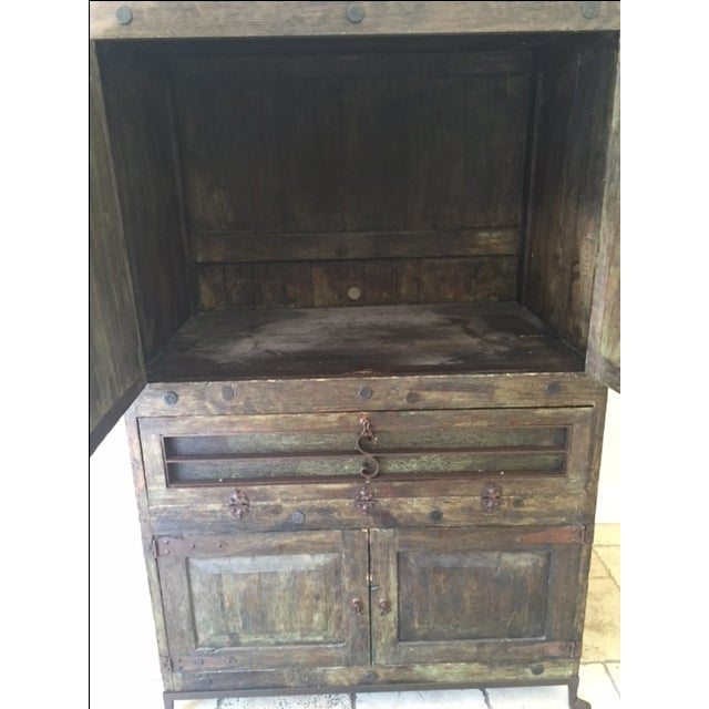 Vintage Spanish-Style Armoire - Image 4 of 4