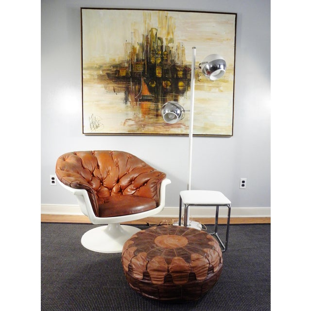 Mid-Century Tufted Bucket Chair - Image 5 of 8
