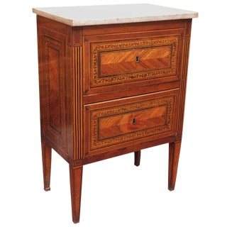 Petit Italian 19th Century Inlaid Commode