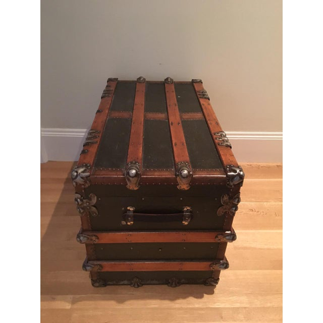 Antique English Steamer Trunk - Image 8 of 10