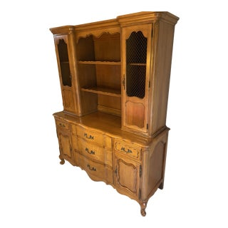 1950's French Provincial Hutch and Server For Sale