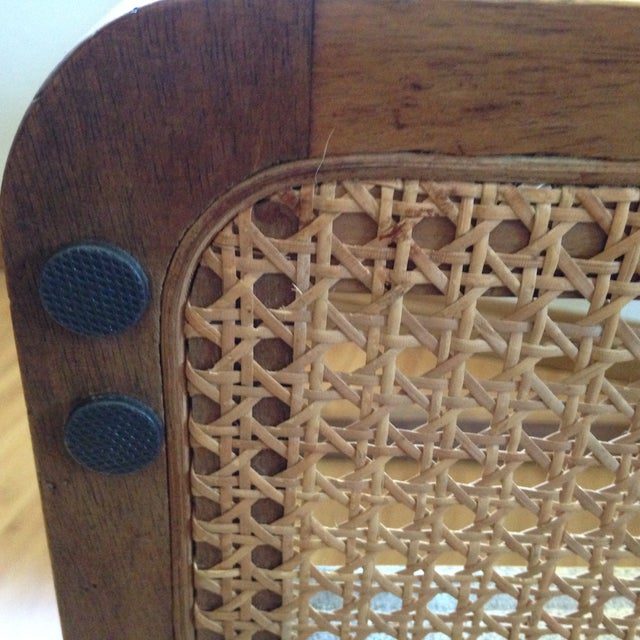 Teak and Rattan Side Table - Image 7 of 8