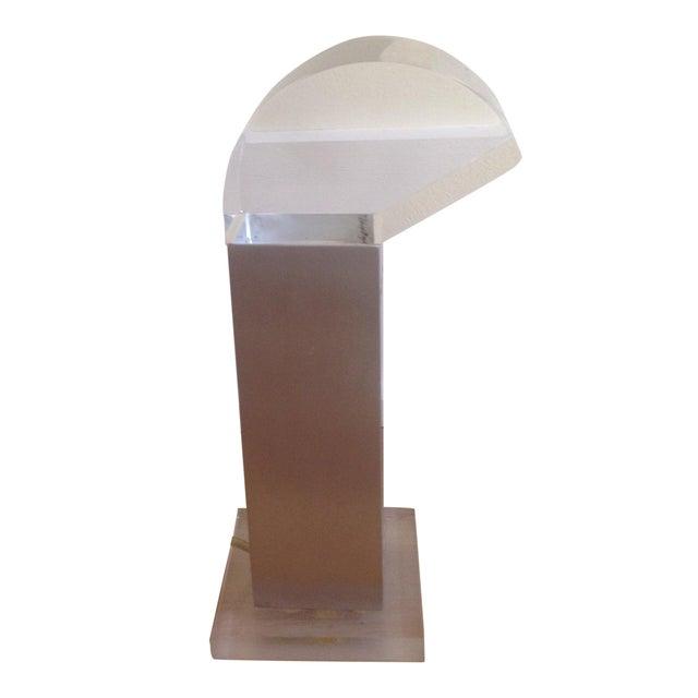 Vintage Missaglia Aluminum & Acrylic Table Lamp - Image 1 of 9