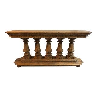 Century Furniture Archive Home Oak Pedestal Console For Sale