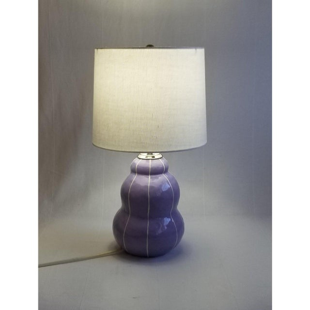 Unique, handmade ceramic table lamp with modern style. Soft, stacked spheres suggest a turban, hence the name. Thin,...
