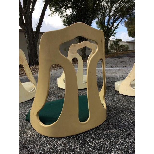 ChromeCraft Mid-Century Modern Acrylic Chair Seats- Set of 6 - Image 3 of 7