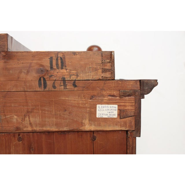 Gold 19th Century Biedermeier Bibliotheque of Figured Mahogany For Sale - Image 8 of 10
