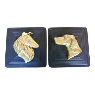 1950s Dog Plaques - Set of 2