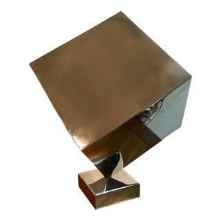 Polished Chrome Cube Sculpture