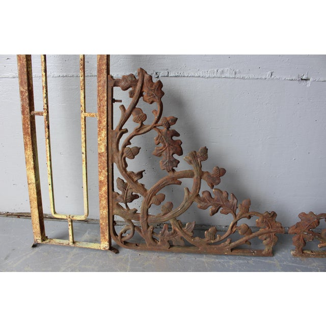 Vintage Wrought Iron Porch Posts - A Pair