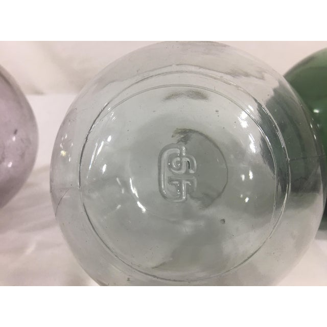 1920s Blown Glass Globes- Set of 3 For Sale - Image 5 of 6