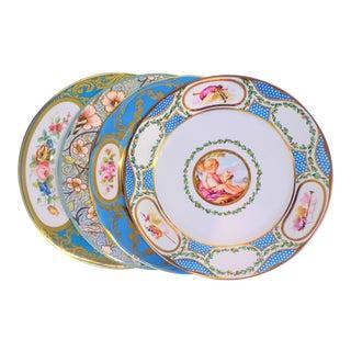 Enamaled Tin English Plates - Set of 4 For Sale