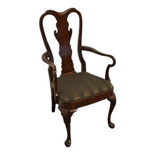 Statton Furniture Solid Cherry Traditional Queen Anne Style Arm Chair For Sale