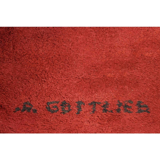 "Abstract Exclusive Wool Rug After Adolph Gottlieb, ""Burst"" For Sale - Image 3 of 5"