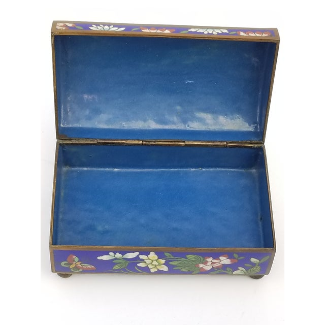 Antique Chinese Cloisonne Box For Sale - Image 9 of 11