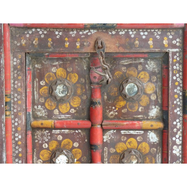 Hand Painted Nepalese Door For Sale - Image 4 of 5