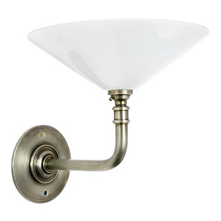 Hector Finch White Glass Coolie Sconce