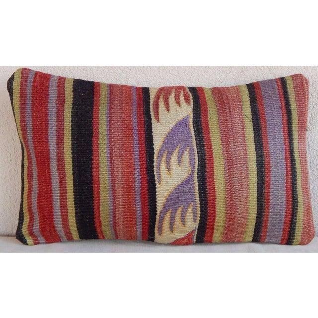 Handmade Turkish Kilim Lumbar Pillow For Sale In Dallas - Image 6 of 6