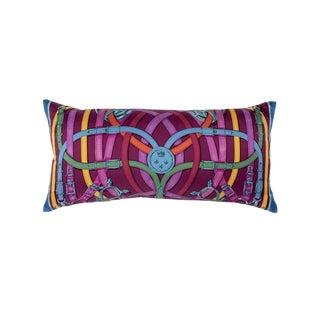 """""""Cavalcadour"""" Hermès Silk Scarf Pillow For Sale"""