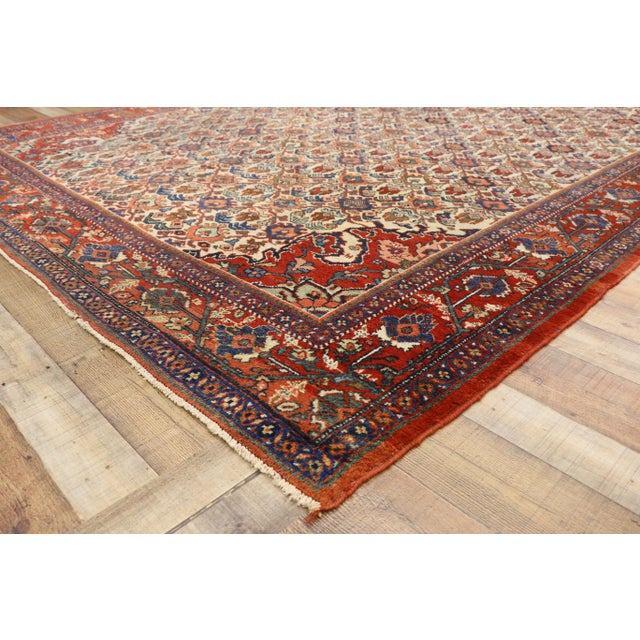 1920s Antique Persian Mahal Rug- 8′8″ × 11′7″ For Sale In Dallas - Image 6 of 10