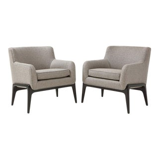 1960s Modernist Lounge Chairs - A Pair For Sale