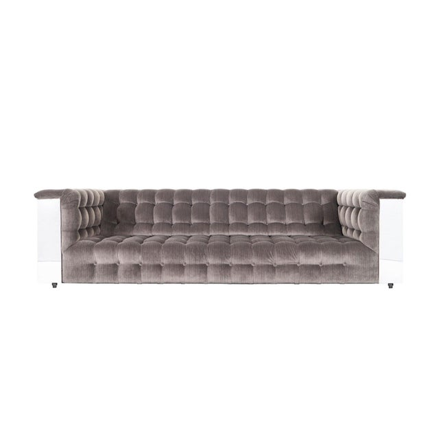 "Vintage Chrome ""Cityscape"" Sofa For Sale - Image 9 of 9"