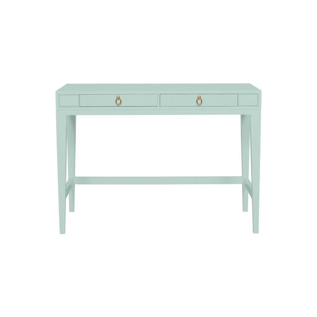 Traditional Casa Cosima Living Issa Counter Height Desk - Palladian Blue For Sale - Image 3 of 3