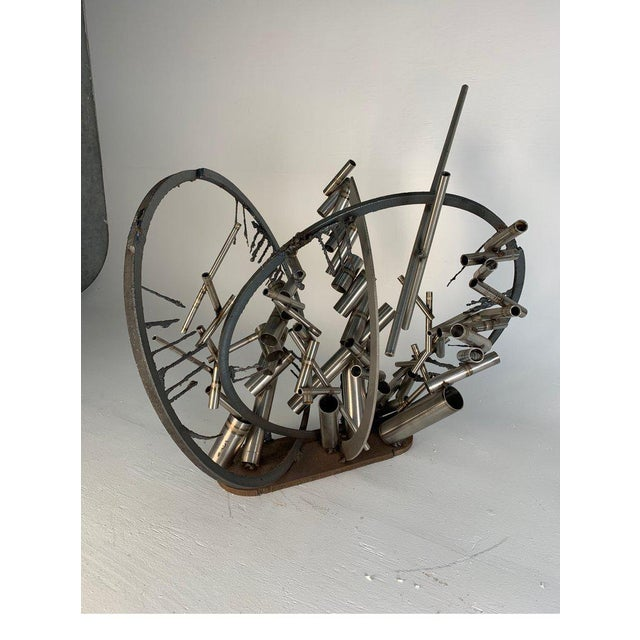 """Late 20th Century D. Phillips """"Gates"""" Welded Steel Sculpture For Sale In Philadelphia - Image 6 of 11"""