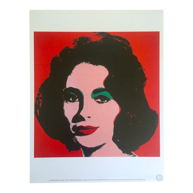 "Andy Warhol Estate Rare 1989 Collector's Lithograph Pop Art Print "" Liz Taylor "" 1964 For Sale - Image 10 of 10"