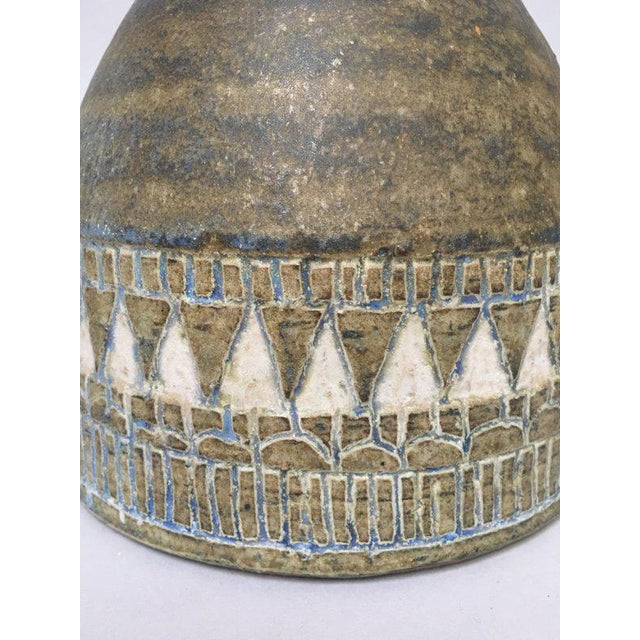 Ceramic 1960s Scandinavian Modern Hald Soon Studio Ceramic Bottle Vase For Sale - Image 7 of 9