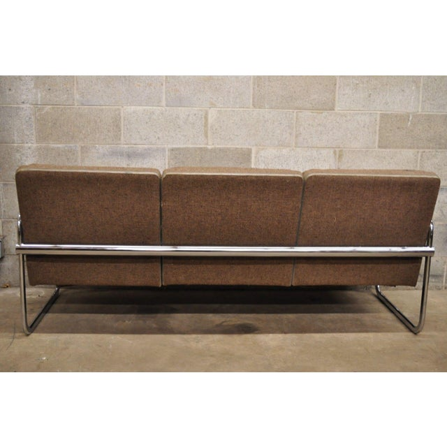 Milo Baughman Style Sofa by United Chair For Sale - Image 10 of 12