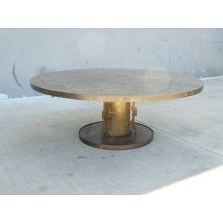 1960s Philip and Kelvin LaVerne Etruscan Round Coffee Table Preview