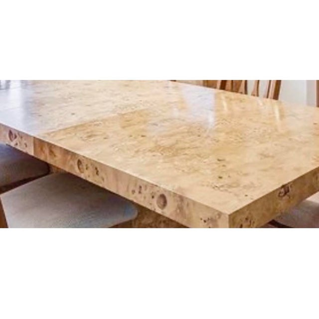 MidCentury Dillingham Burl Wood Dining Table For Sale - Image 12 of 12