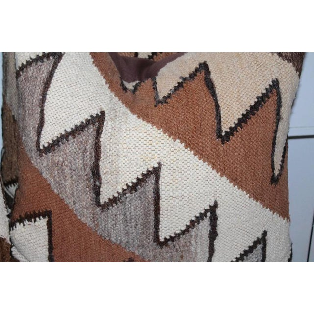 1930s Geometric Handwoven Indian Weaving Pillows For Sale - Image 5 of 5