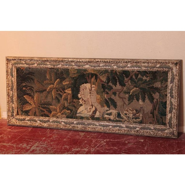 French 18th Century Framed French Aubusson Tapestry For Sale - Image 3 of 10
