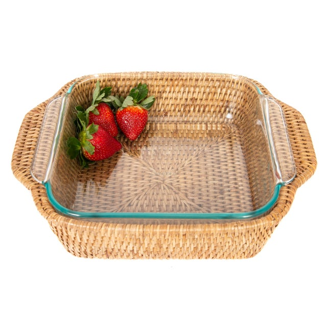 Artifacts Trading Company's hand woven pyrex holders provide the perfect accent to any table setting with a tight weave,...
