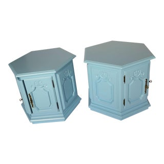 "Drexel Heritage 2 Door Octagonal ""Storage"" Nighstands-A Pair For Sale"